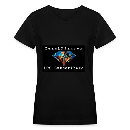 100 Subscribers T-Shirts - Women's V-Neck T-Shirt