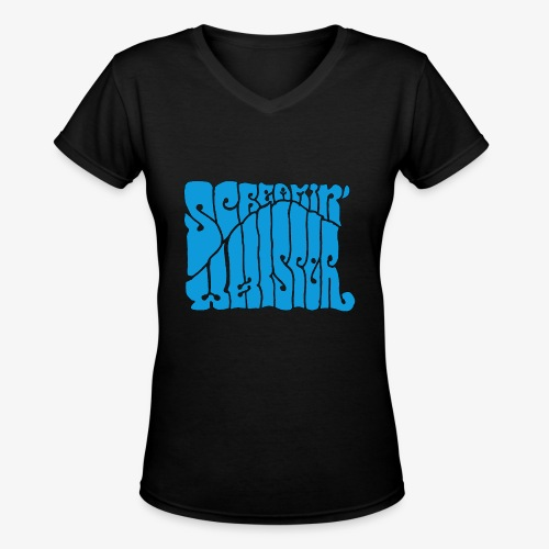 Screamin' Whisper Retro Logo - Women's V-Neck T-Shirt