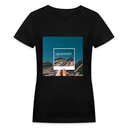 Views POLAROID SERIES - Women's V-Neck T-Shirt