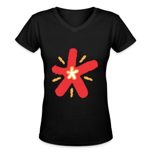 SHINE - Women's V-Neck T-Shirt