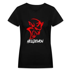 HELLDEMON - Women's V-Neck T-Shirt