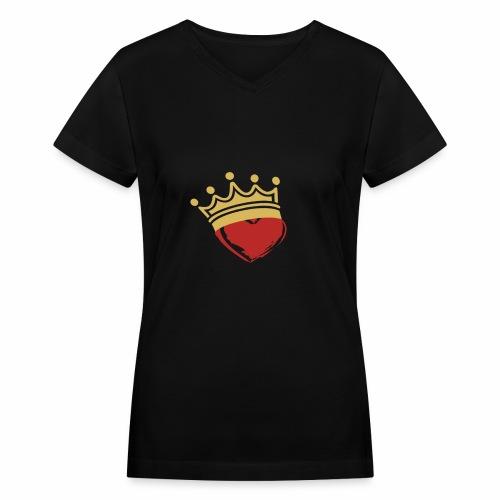 Crown Her - Women's V-Neck T-Shirt