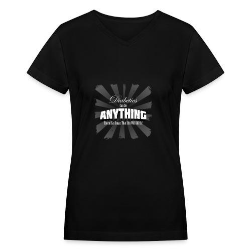 Diabetics Can Do Anything........... - Women's V-Neck T-Shirt