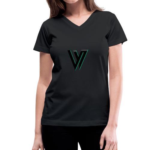 Dolphin V.i.pper - Women's V-Neck T-Shirt