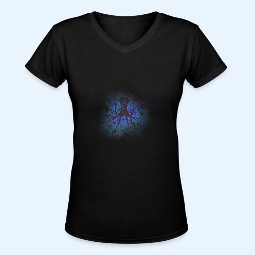 Octopus darklight - Women's V-Neck T-Shirt
