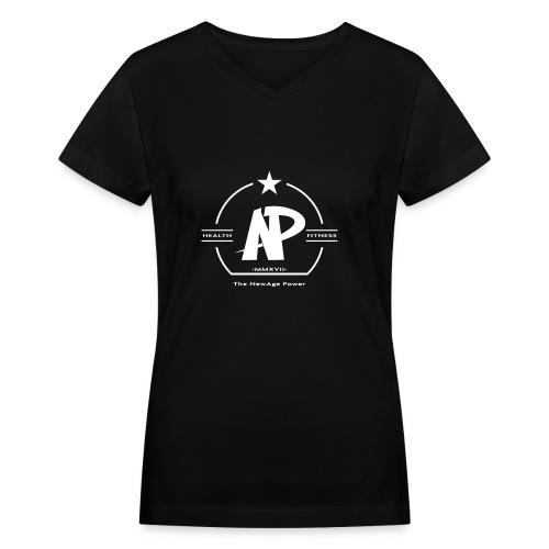The NewAge Power T-Shirt Black - Women's V-Neck T-Shirt