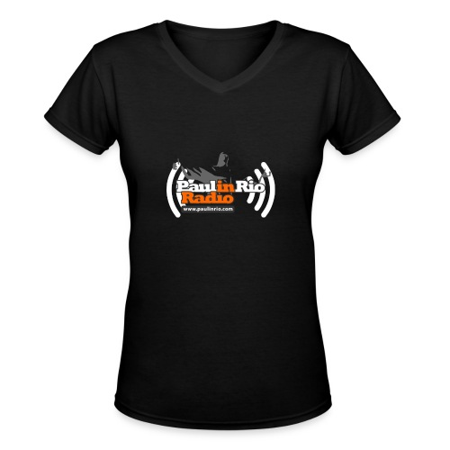 Paul in Rio Radio - Thumbs-up Corcovado #1 - Women's V-Neck T-Shirt