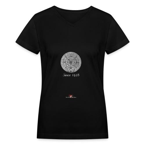 Since 1428 Aztec Design! - Women's V-Neck T-Shirt