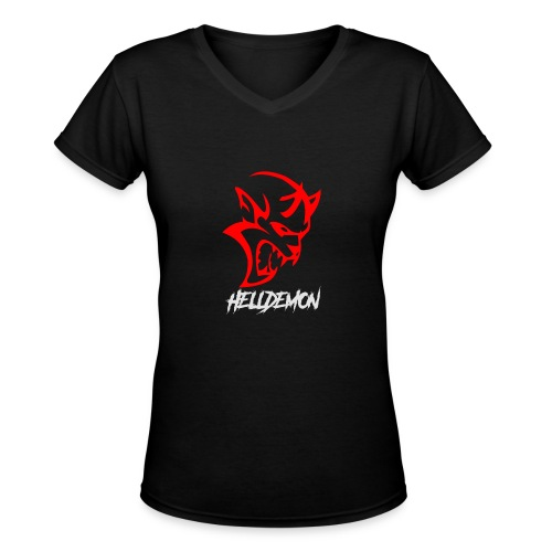 HELLDEMON - Women's V-Neck T-Shirt