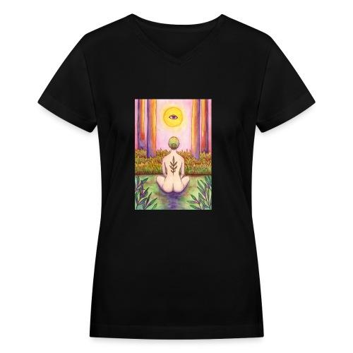 Mother Nature - Women's V-Neck T-Shirt