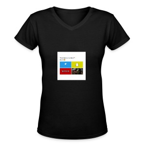 First shirt - Women's V-Neck T-Shirt