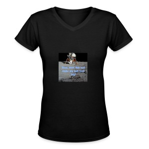 Does this Spacesuit make my butt look big? - Women's V-Neck T-Shirt