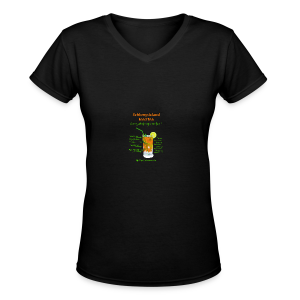 Schlong Island Iced Tea - Women's V-Neck T-Shirt