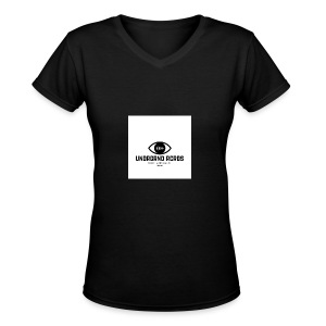 underground establishment - Women's V-Neck T-Shirt