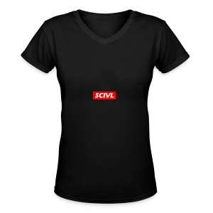 scivl-red - Women's V-Neck T-Shirt