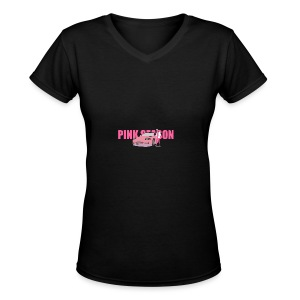 Pink_Concept_2 - Women's V-Neck T-Shirt