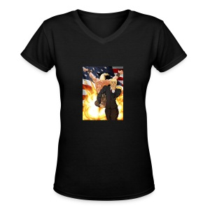 Trumps stand - Women's V-Neck T-Shirt