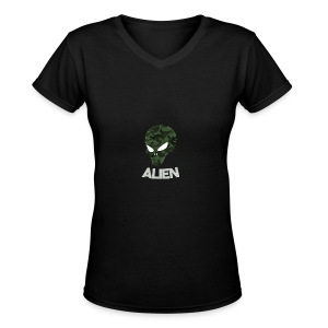 Military Alien - Women's V-Neck T-Shirt
