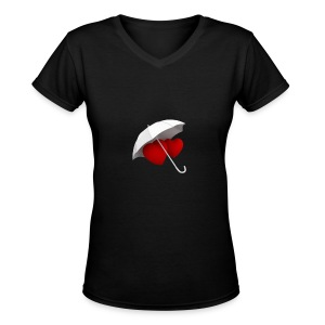love valentin day - Women's V-Neck T-Shirt