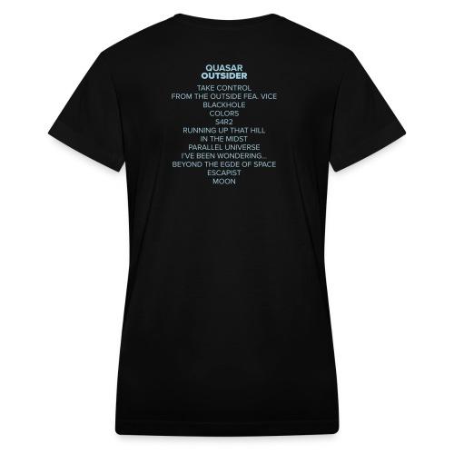 Outsider Tracklist - Women's V-Neck T-Shirt