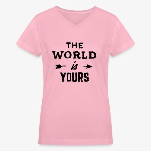 the world - Women's V-Neck T-Shirt