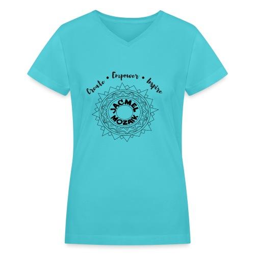 JM Black Logo - Women's V-Neck T-Shirt