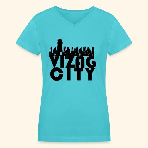 Vizag City - Women's V-Neck T-Shirt