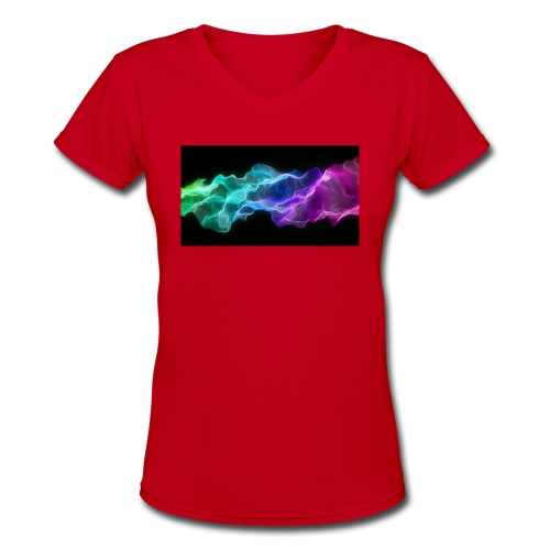 ws Curtain Colors 2560x1440 - Women's V-Neck T-Shirt