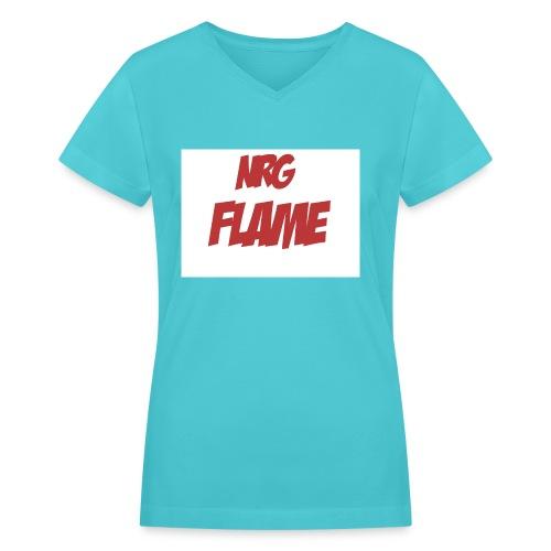 Flame For KIds - Women's V-Neck T-Shirt