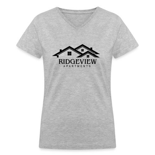 Ridgeview Apartments - Women's V-Neck T-Shirt
