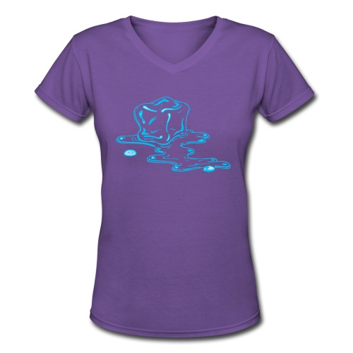 Ice melts - Women's V-Neck T-Shirt