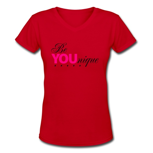 Be Unique Be You Just Be You - Women's V-Neck T-Shirt
