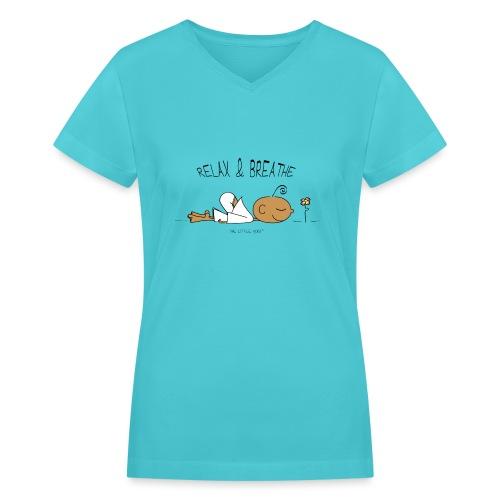Relax & Breathe - Women's V-Neck T-Shirt