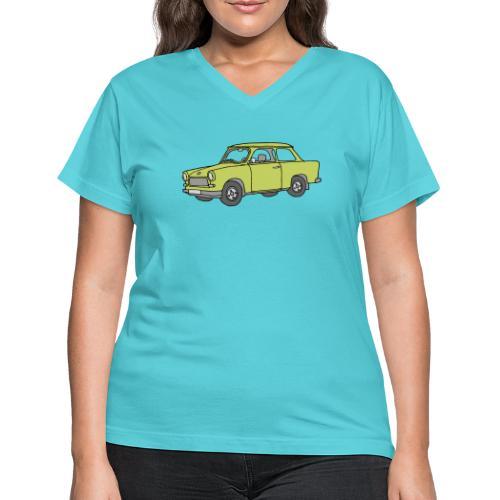 Trabant (baligreen car) - Women's V-Neck T-Shirt