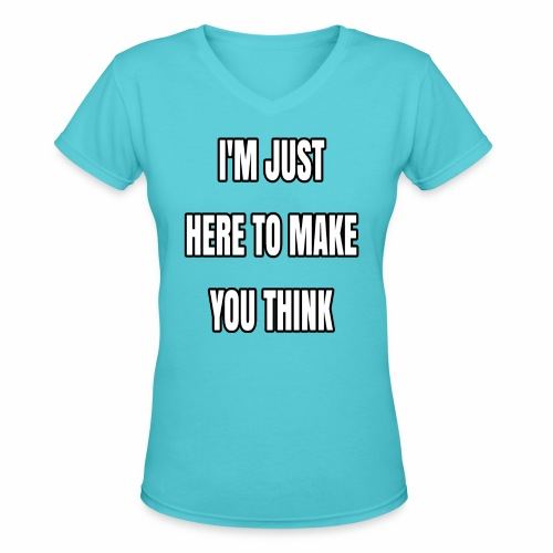 IJHTMYT (White Font) - Women's V-Neck T-Shirt