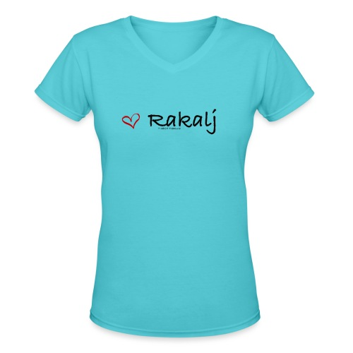 I love Rakalj - Women's V-Neck T-Shirt