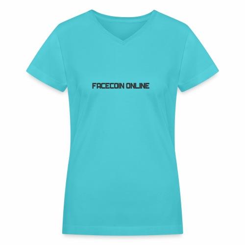 facecoin online dark - Women's V-Neck T-Shirt