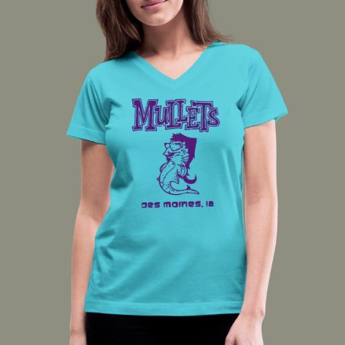 Mullets Color Series - Women's V-Neck T-Shirt
