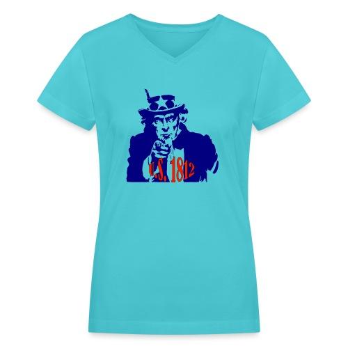 uncle-sam-1812 - Women's V-Neck T-Shirt