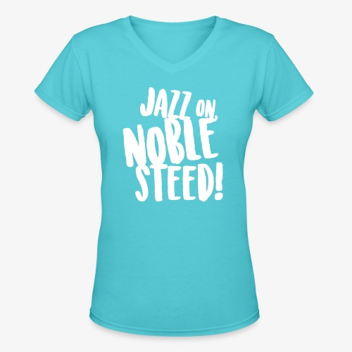 MSS Jazz on Noble Steed - Women's V-Neck T-Shirt