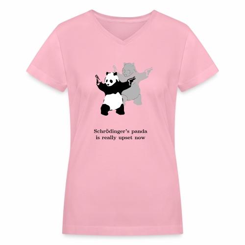 Schrödinger's panda is really upset now - Women's V-Neck T-Shirt