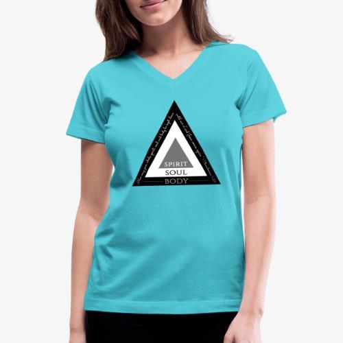 Spirit Soul Body - Women's V-Neck T-Shirt