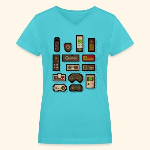 pixelcontrol - Women's V-Neck T-Shirt