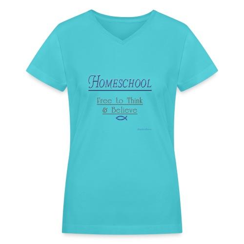 Homeschool Freedom - Women's V-Neck T-Shirt