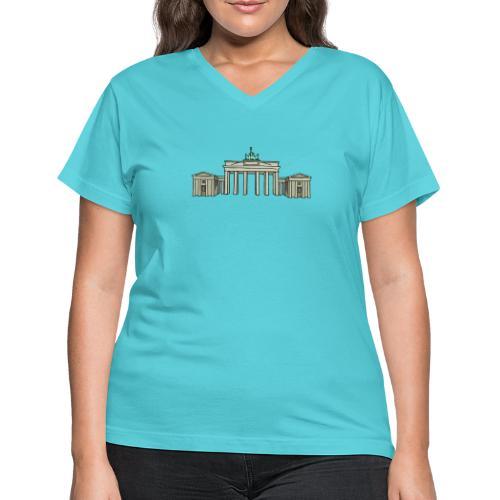 Brandenburg Gate Berlin - Women's V-Neck T-Shirt
