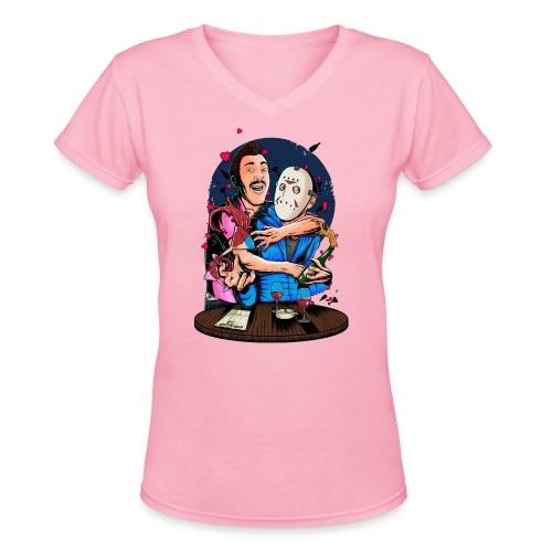 Carlos 4 Delirious Design Female png - Women's V-Neck T-Shirt