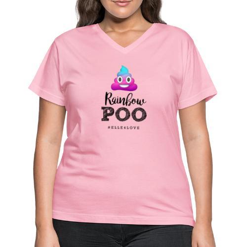 Rainbow Poo - Women's V-Neck T-Shirt