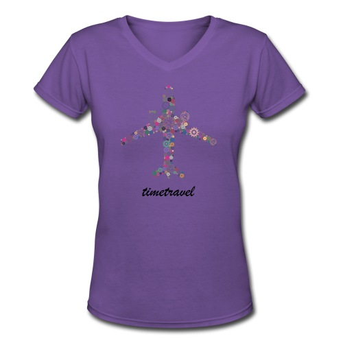 Time To Travel - Women's V-Neck T-Shirt