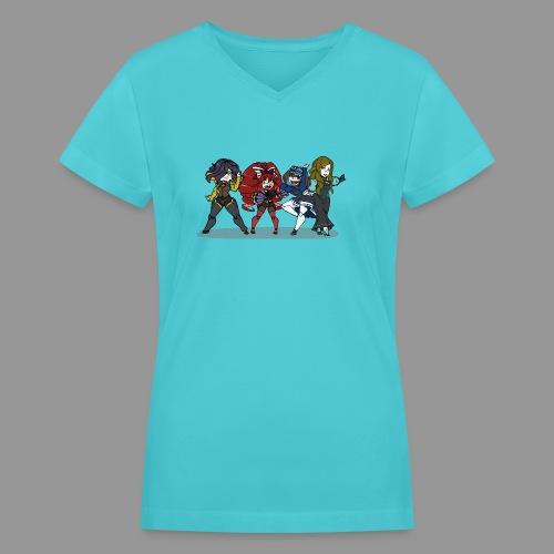 Chibi Autoscorers - Women's V-Neck T-Shirt