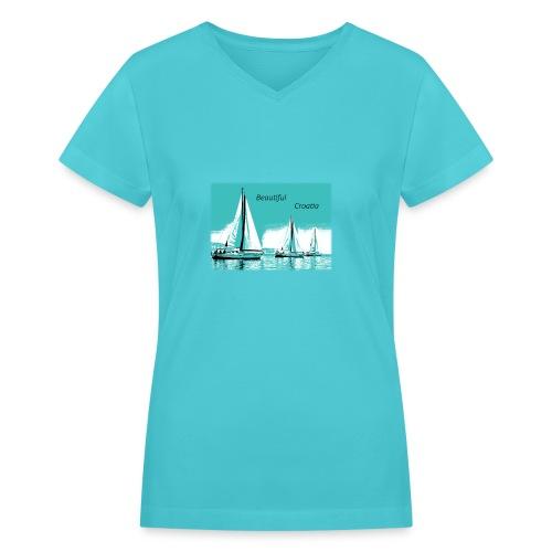 Beautiful Croatia - Women's V-Neck T-Shirt